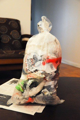 Zero dechet: poubelle