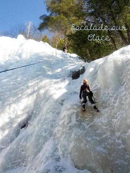Hiver Montreal : Escalade sur Glace