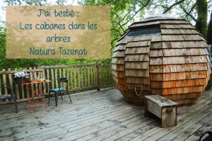J'ai testé : les cabanes dans les arbres de Natura Tazenat !