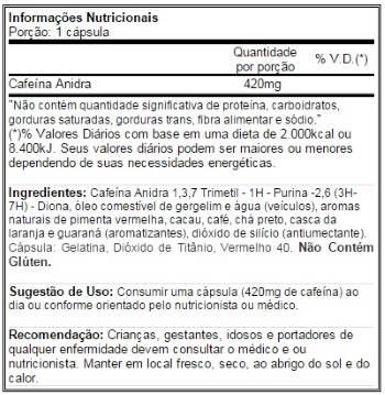 Composição Lipo X Red HPI Sport Nutrition