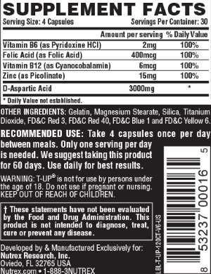 T-UP Nutrex composição tabela nutricional