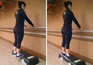 Flexão plantar exercícios com o peso corporal para definir as pernas