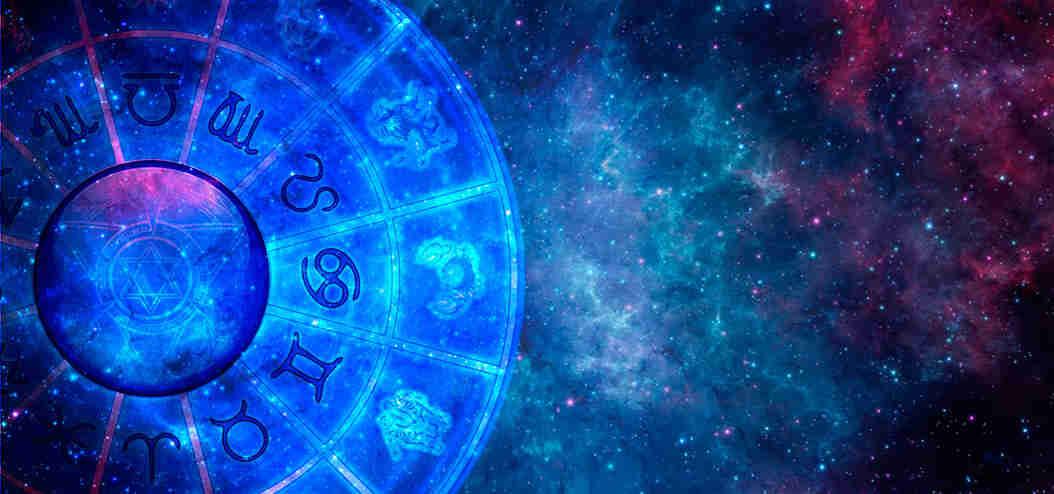 Mandala de Astrologia no céu estrelado