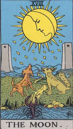 Carta do Tarot - Arcano 18 A Lua