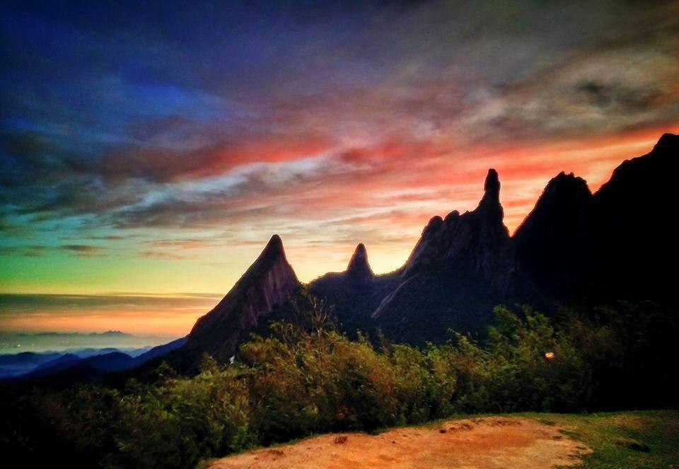 Dedo de Deus em Teresópolis - Estado do Rio de Janeiro - Montanhas