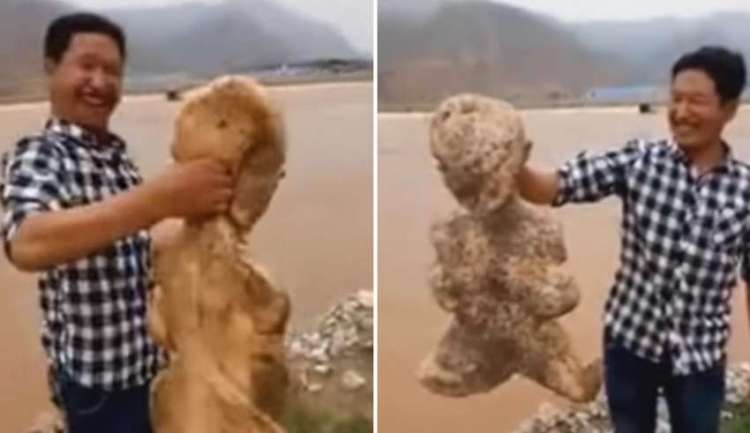 Criatura Humanoide Aparece en una Playa de China