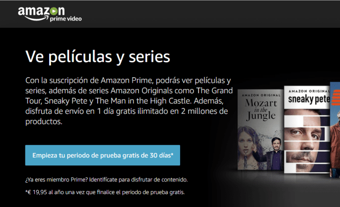 Amazon Prime Video - Descargar series