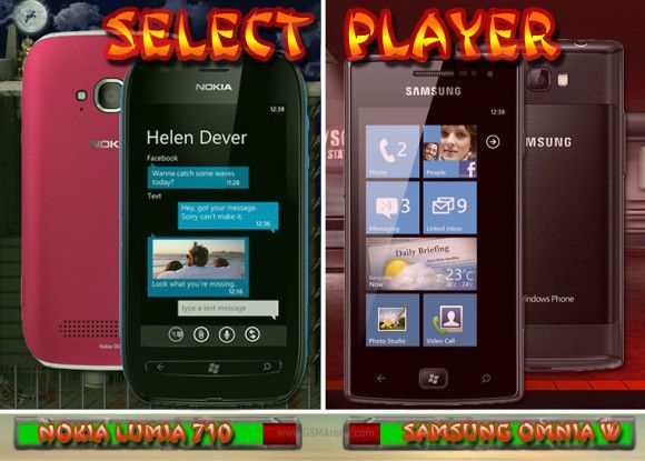 Lumia 710 vs Onmia W