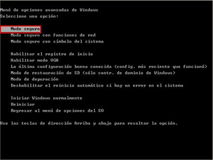 modo seguro en windows 7 con F8 Cómo iniciar Windows 7 en modo seguro