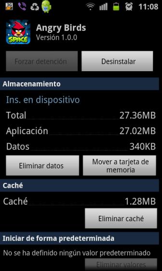 Menú Aplicaciones Android