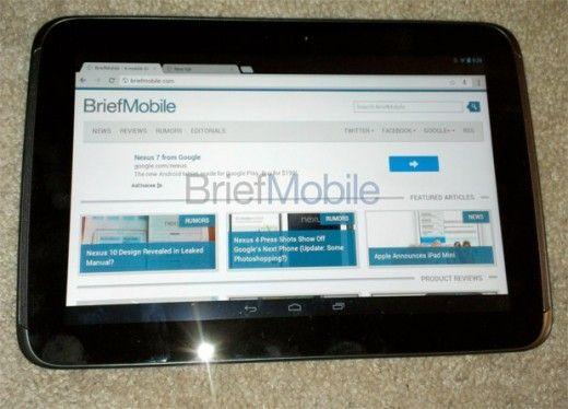 Samsung Nexus 10 Google tablet