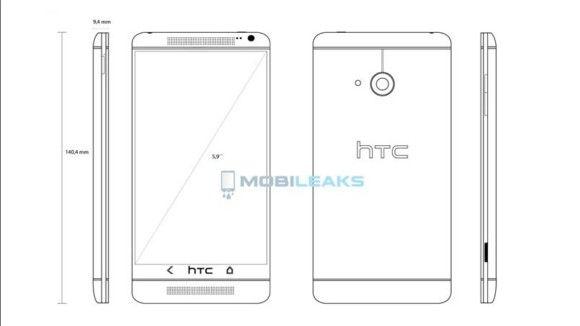 Diseño esquemático del HTC One Max