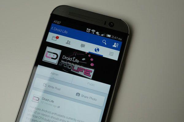 Nueva interfaz Facebook para Android.