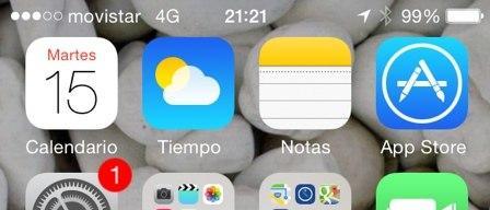 Captura de pantalla en iOS 7