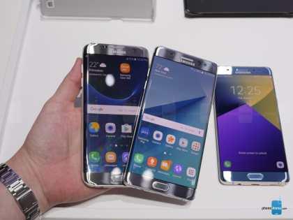 Galaxy Note 7 vs Galaxy S7, la batalla de las curvas