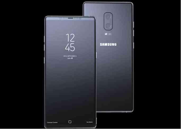 El Galaxy Note ocho podría tener éste increíble frontal