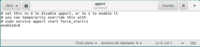 Ubuntu fallo interno
