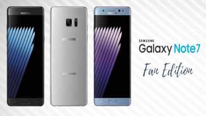 modelos del Samsung Galaxy Note 7 Fan Edition