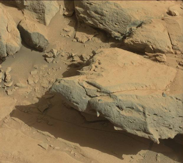 Part of the rock outcrop called Cooperstown. Interesting pointed protrusions can be seen. Credit: NASA / JPL-Caltech