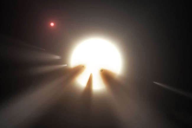 """Whatever is causing the weird dimming around the star isn't known yet, but theories have ranged from comets to """"alien megastructures."""" Image Credit: NASA/JPL-Caltech"""