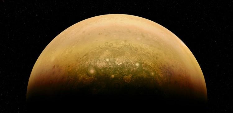 Amateur processed image of Jupiter's north pole, by citizen scientist Alex Mai. Image Credit: NASA/JPL-Caltech/SwRI/MSSS/Alex Mai