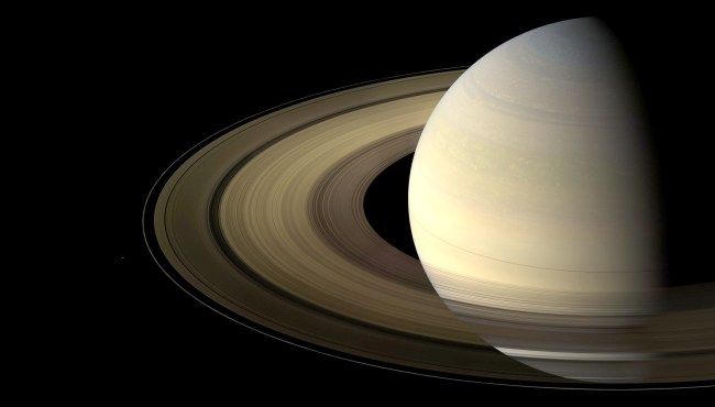 View from Cassini of Saturn and its main rings. Photo Credit: NASA/JPL-Caltech/Space Science Institute
