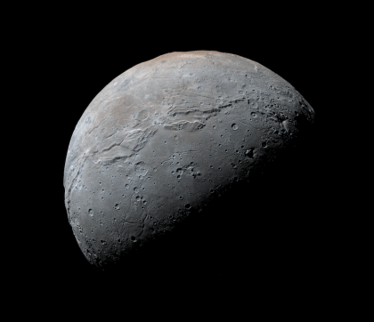 High-resolution view of Charon from New Horizons. Photo Credit: NASA/JHUAPL/SwRI/Daniel Macháček