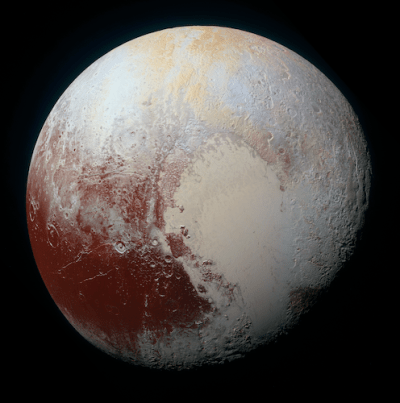 Pluto itself is also thought to have a subsurface ocean, but one that is likely still liquid. Photo Credit: NASA/JHUAPL/SwRI