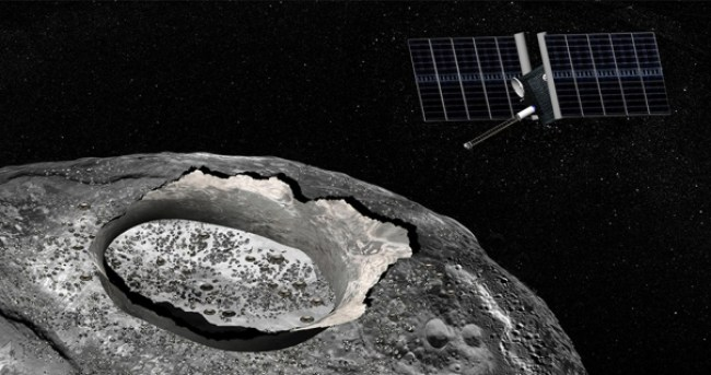 Psyche will arrive at the metal asteroid 16 Psyche in 2030, the first-ever visit to such an unusual body in the Solar System. Image Credit: NASA/JPL-Caltech