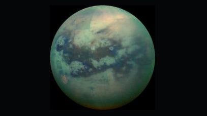 Titan, as seen in radar images from NASA's Cassini spacecraft, is a complex world with methane/ethane rain, rivers, lakes and seas. Image Credit: NASA/JPL
