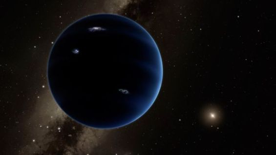 Artist's conception of the possible Planet Nine, orbiting much farther from the Sun than even Pluto. The Cassini spacecraft may be able to help find it. Image Credit: Caltech/R. Hurt (IPAC)