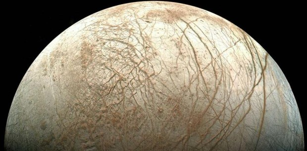 The cracked icy surface of Europa. Could the ocean below support life? The Europa Clipper mission will try to answer that question. Image Credit: NASA/JPL/Ted Stryk