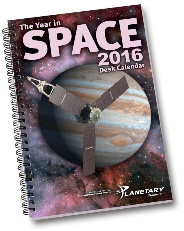 The Year in Space 2016 desk calendar. Image Credit: Year in Space