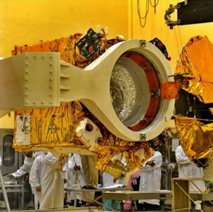 The Mars Orbiter Mission spacecraft during construction. Credit: Indian Space Research Organization (ISRO)