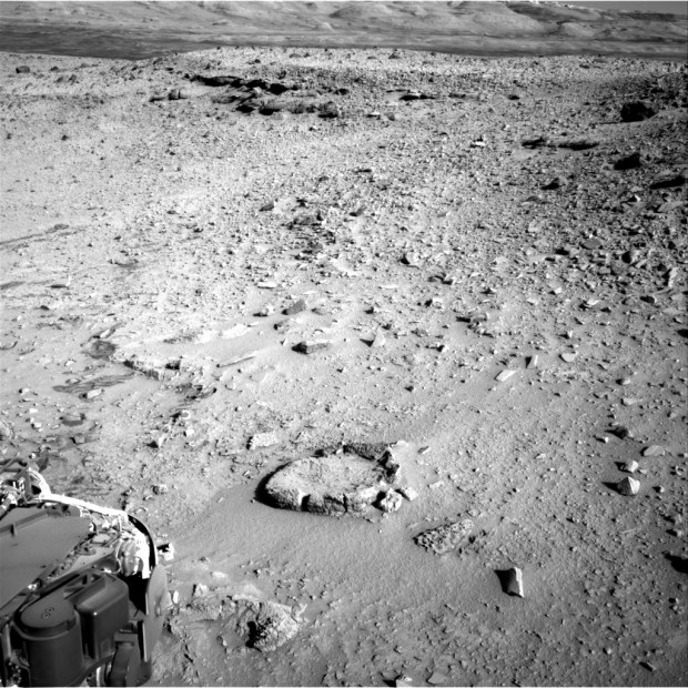 "View of the ""fire pit"" from sol 528. Click for larger version. Credit: NASA / JPL-Caltech"