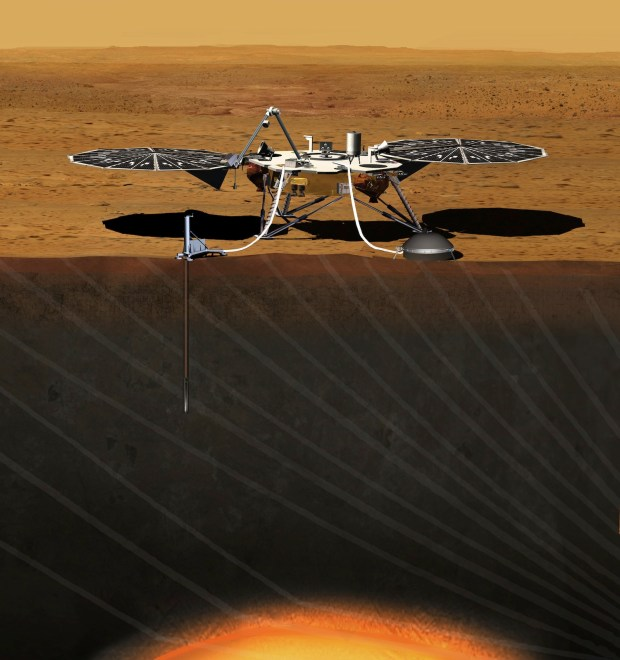 Artist's conception of the InSight lander on Mars. Credit: NASA / JPL-Caltech