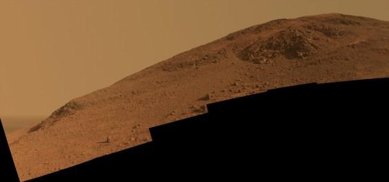 Another view, looking upward at Knudsen Ridge. Image Credit: NASA/JPL-Caltech/Cornell Univ./Arizona State Univ.