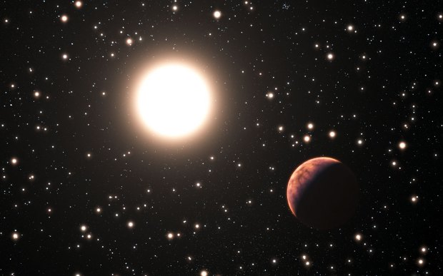 Artist's conception of one of the newly-found planets in the Messier 67 star cluster.
