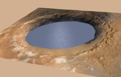 Curiosity has confirmed that Gale crater used to be a lake a long time ago, and was a potentially habitable environment. Image Credit: NASA