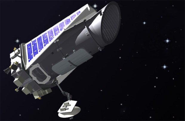 Artist's illustration of the Kepler space telescope in orbit. Credit: NASA