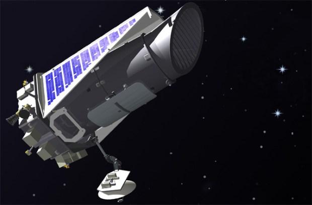 Artist's illustration of the Kepler space telescope in orbit. Credit: NASA