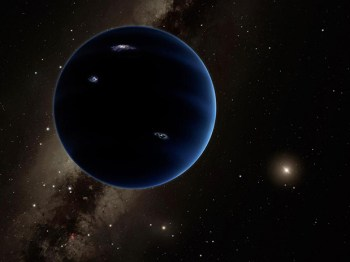 "The other current leading theory for Planet 9 is that is is actually a planet, about 10 times more massive than Earth, making it similar to ""super-Earths"" found orbiting other stars. Image Credit: Caltech/R. Hurt (IPAC)"
