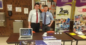 Director Jared Young and Student Manager Joe Milliano had a great time publicizing the planetarium at the Kirksville STEAM Summit yesterday. Thanks to the Kirksville Area STEAM Alliance for putting on such a great event, and we are excited for the possibility of collaboration with other STEAM-oriented organizations in the area.