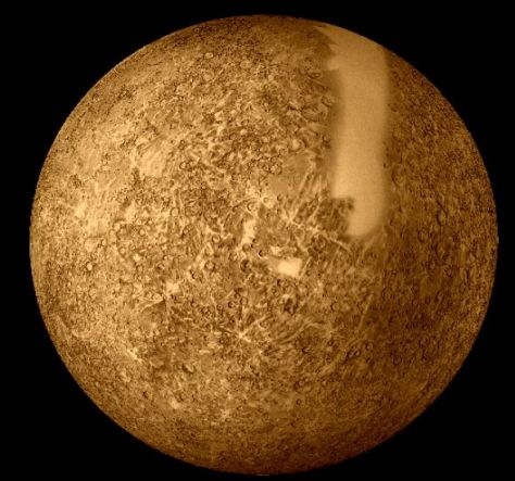 Mercury seen by Mariner 10. © NASA.