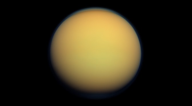Titan seen by Cassini. © NASA