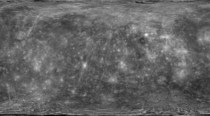 Map of Mercury, by MESSENGER. ©USGS