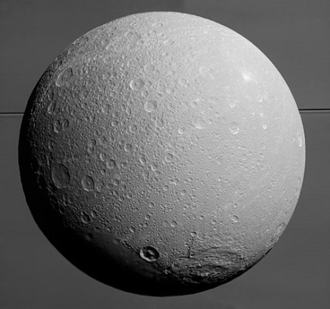 Dione seen by Cassini. © NASA