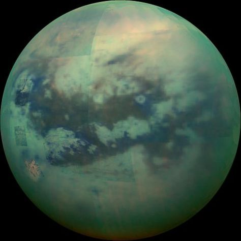 Mosaic of Titan, due to Cassini. © NASA/JPL/University of Arizona/University of Idaho