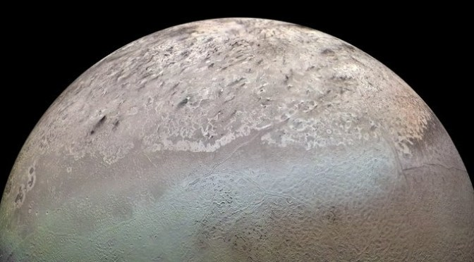 Triton from the Earth