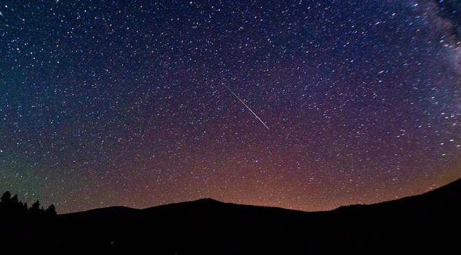 Meteor above Mt Humphrey, AZ - August, 13th 2013 © Robb Hannawacker